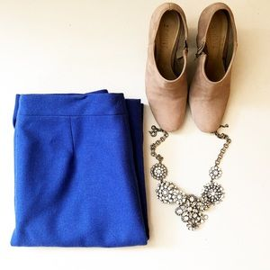 J.Crew royal blue skirt